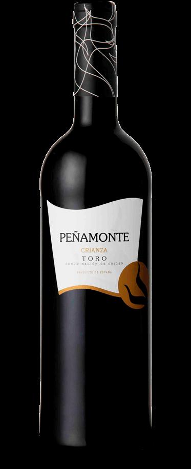 Fotografía de una botella de Peñamonte Crianza
