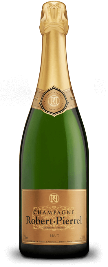 Fotografía de botella del champagne Robert Pierrel Cuvée Tradition Brut Séléction.