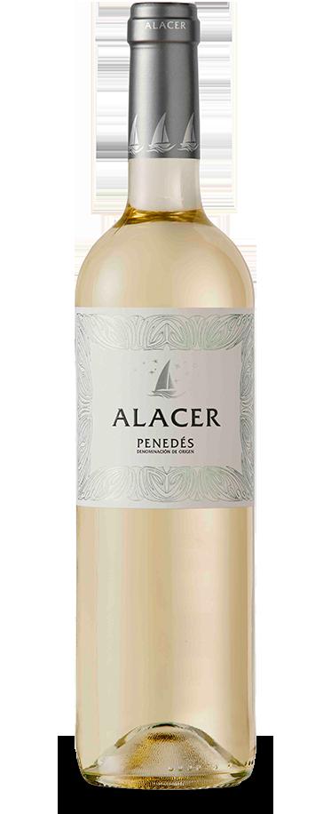 Fotografía de la botella del vino Alacer Blanco.