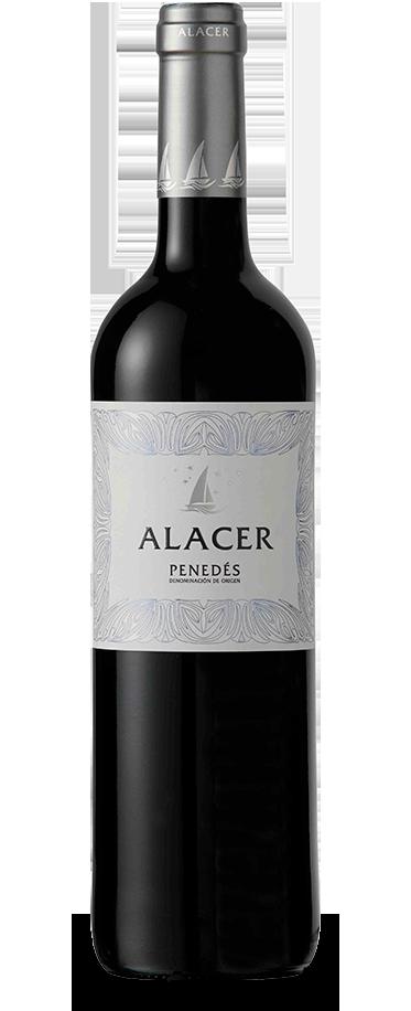 Fotografía de la botella del vino Alacer Tinto.