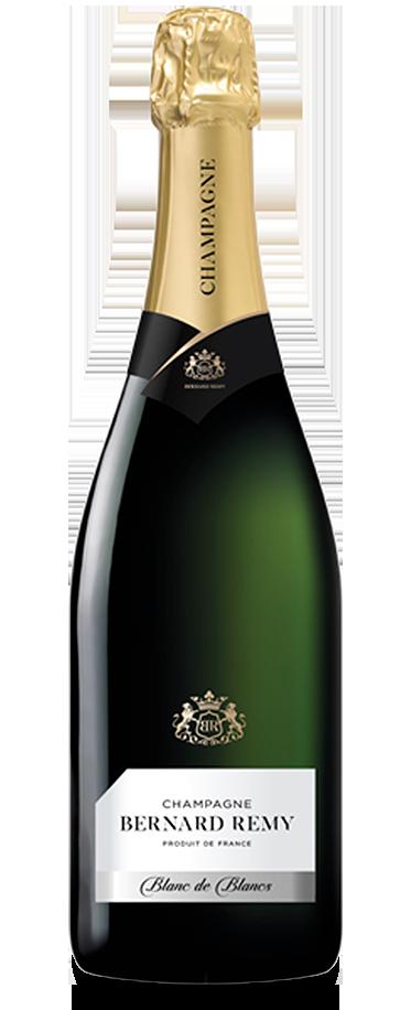 Fotografía de la botella del champagne Bernard Remy Blanc de Blancs.