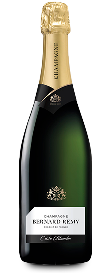 Fotografía de la botella del champagne Bernard Remy Carte Blanche.