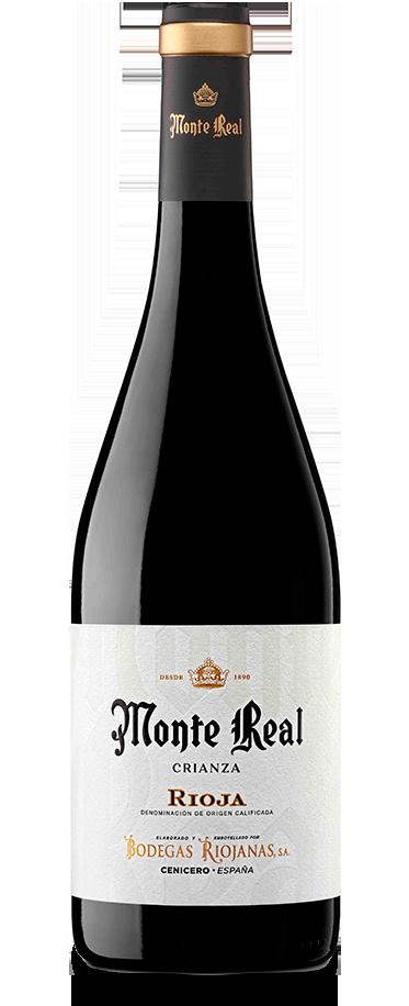 Fotografía de la botella de Monte Real Crianza