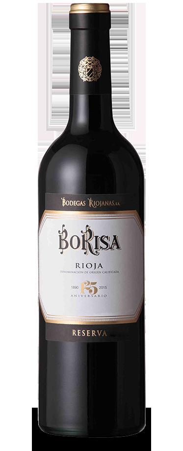 Fotografía de una botella de Borisa 125 Aniversario