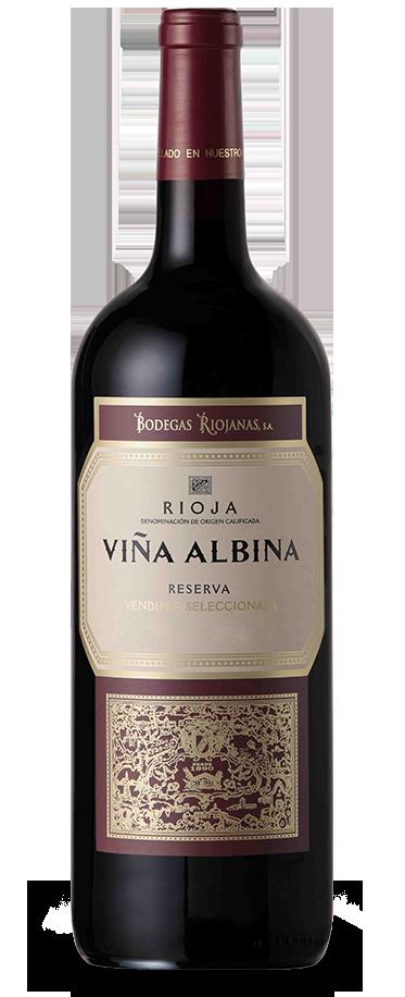 Fotografía de una botella magnum de Viña Albina Reserva Vendimia Seleccionada