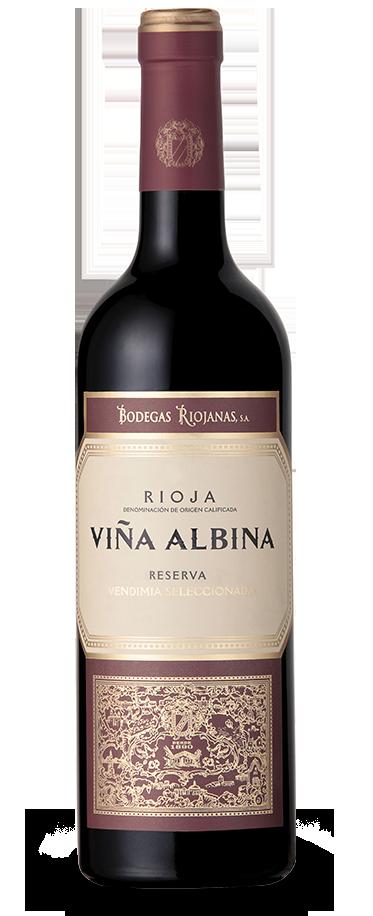 Fotografía de una botella de Viña Albina Reserva Vendimia Seleccionada.