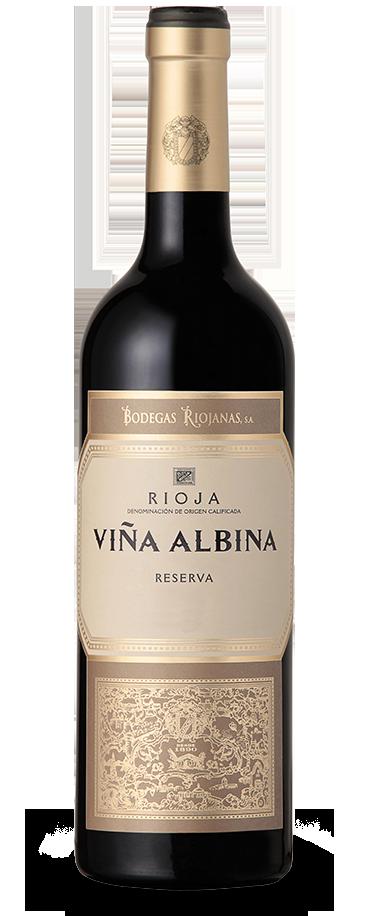 Fotografía de una botella de Viña Albina Reserva.