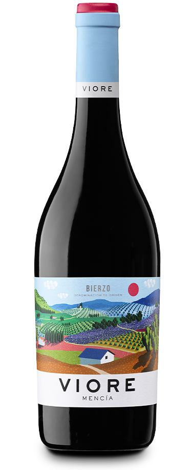 Fotografía de la botella del vino Viore Bierzo.